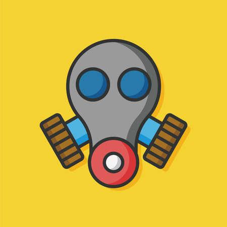 gas mask warning sign: Gas mask vector icon Illustration