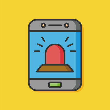 cellphone: emergency cellphone mobile icon