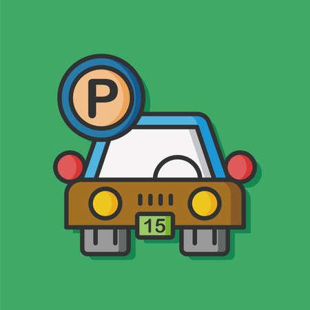 parking car: parking car vector icon Illustration
