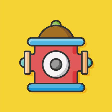 hydrant plug: fire hydrant vector icon