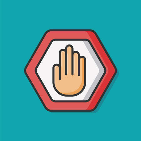 Prohibit sign vector icon