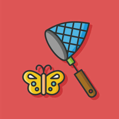 entomology: insect net vector icon