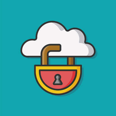 lock and key: key lock vector icon