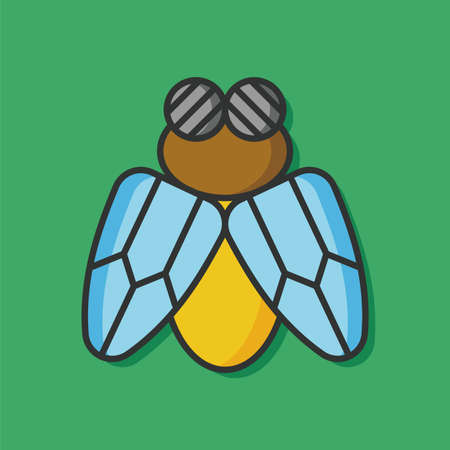 insect mosquito: insect bug vector icon