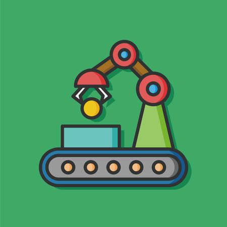 conveyor: Cargo conveyor vector icon Illustration