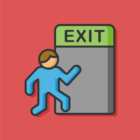 emergency exit: emergency exit vector icon