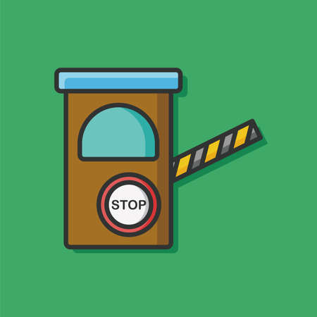 toll: Toll booths vector icon Illustration