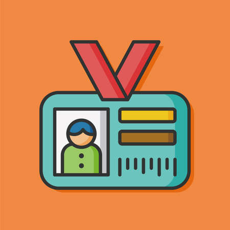 identification: Identification card vector icon