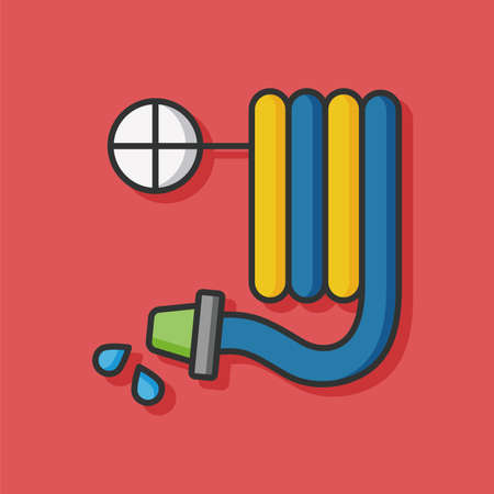 drainage: Water pipe flat icon