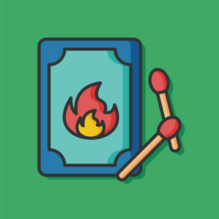match: fire match vector icon