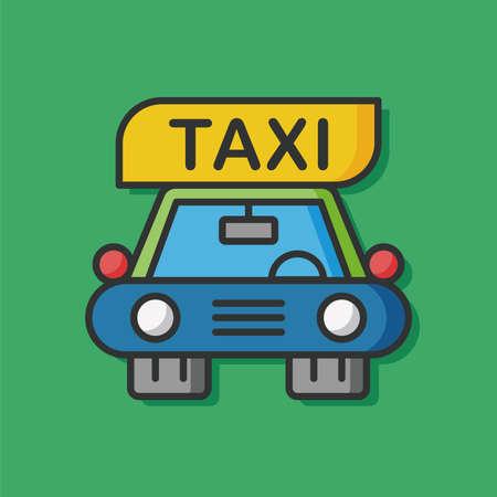 private service: transportation taxi car icon