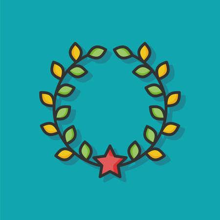 symbol sport: award Laurel vector icon Illustration