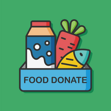 Donate food vector icon