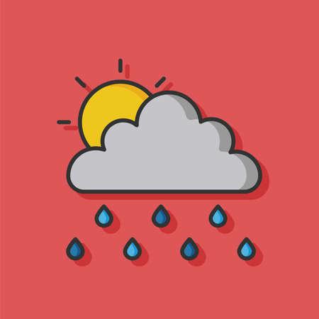 raining: weather raining cloud vector icon Illustration