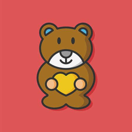 baby bear: baby bear vector icon Illustration