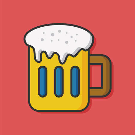 champagne cups: drink beverage vector icon Illustration