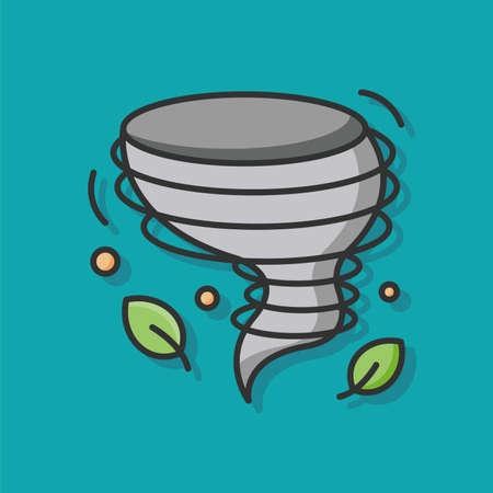 tornado wind: tornado wind vector icon