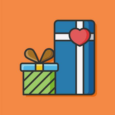 birthday presents: present gift vector icon Illustration