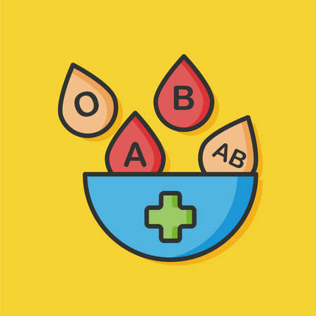 donor blood type: blood type vector icon Illustration
