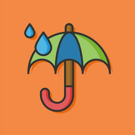 raining: raining umbrella vector icon