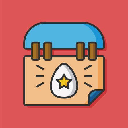 calendar icon: easter calendar vector icon