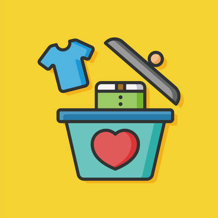 donation: Donate clothes vector icon Illustration