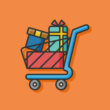 shopping cart icon: shopping cart vector icon