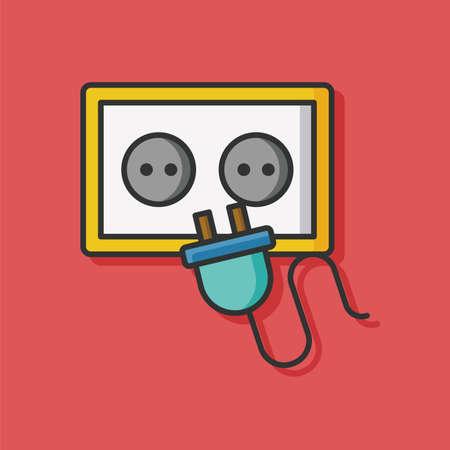 plug socket: plug socket vector icon