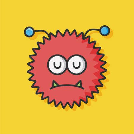 virus bacteria: bacteria virus vector icon Illustration