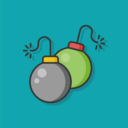 bomb: bomb weapon vector icon Illustration