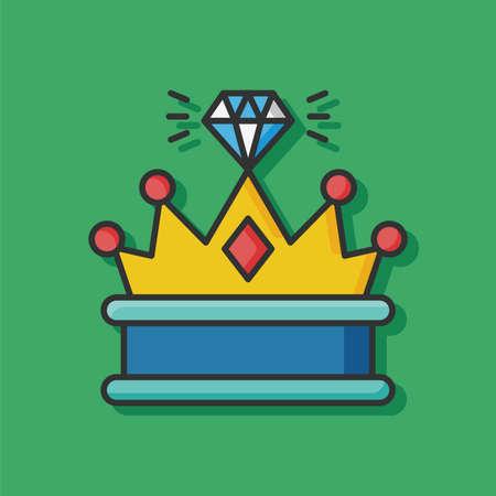 coronation: crown diamond vector icon