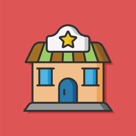 mall signs: shopping store vector icon Illustration