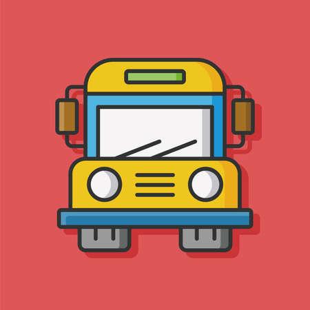 bus ikon wektorowych szkoły Ilustracje wektorowe