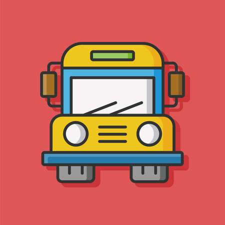 yellow schoolbus: school bus vector icon