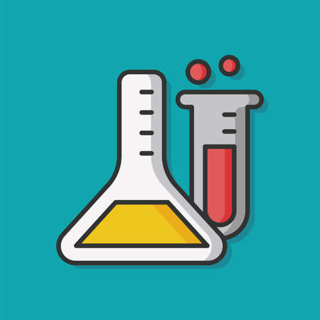 test glass: Experiment Beaker vector icon