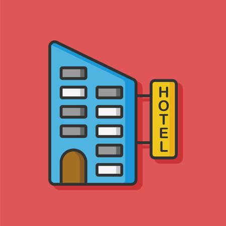 architecture: hotel architecture building vector icon