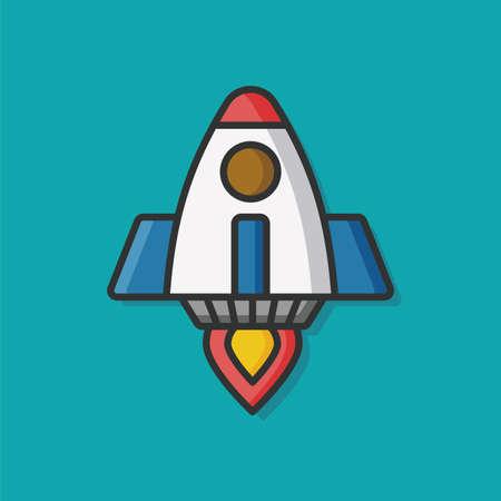 airship: airship rocket vector icon