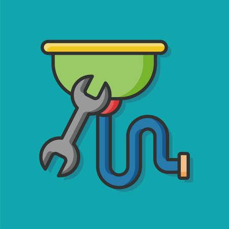 Pipe à eau vecteur icône Vecteurs