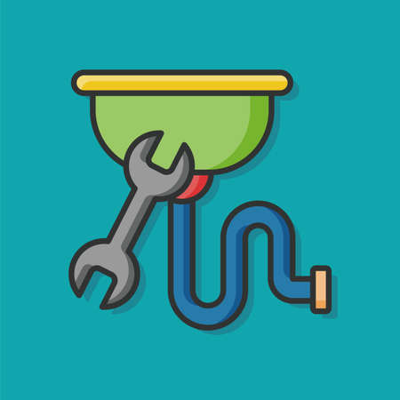 sewage system: Water pipe vector icon