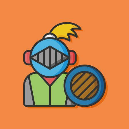jousting: knight armor vector icon Illustration