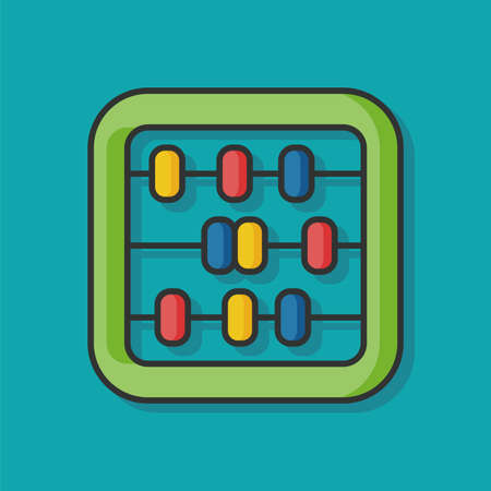 math icon: Abacus math vector icon