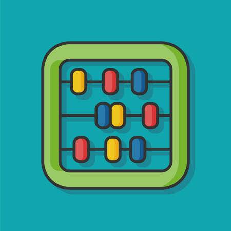math icon: Abacus math vector icon