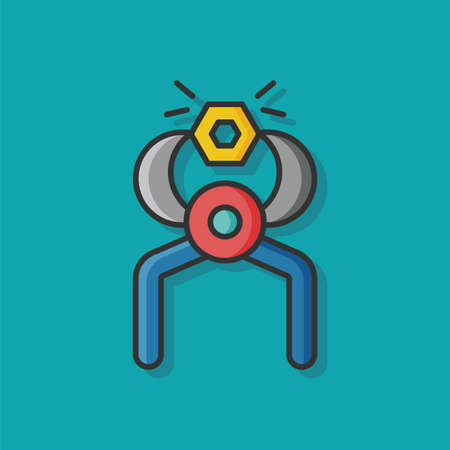 screwdrivers: Screwdrivers tool vector icon Illustration