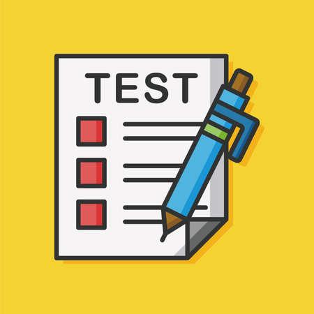 exam paper vector icon