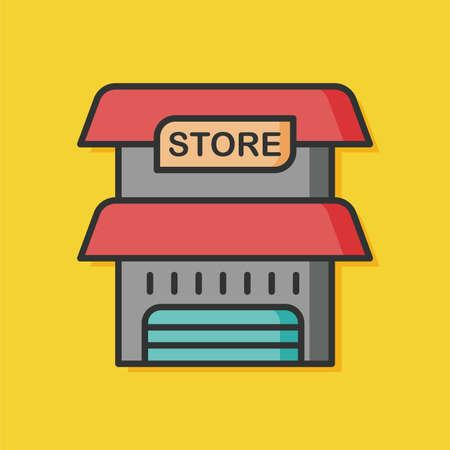 architecture: store architecture building vector icon
