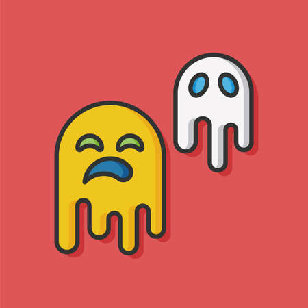 monster ghost vector icon Illustration