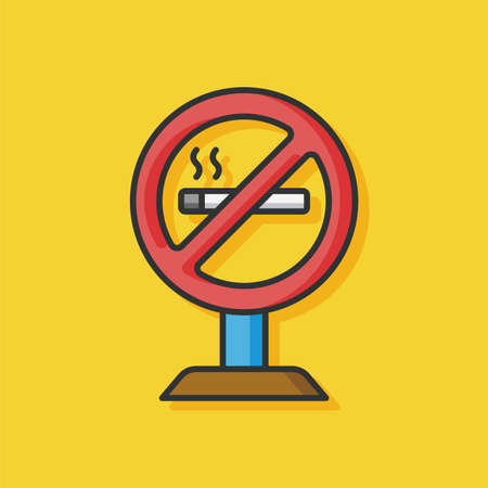 abstain: no smoke vector icon Illustration