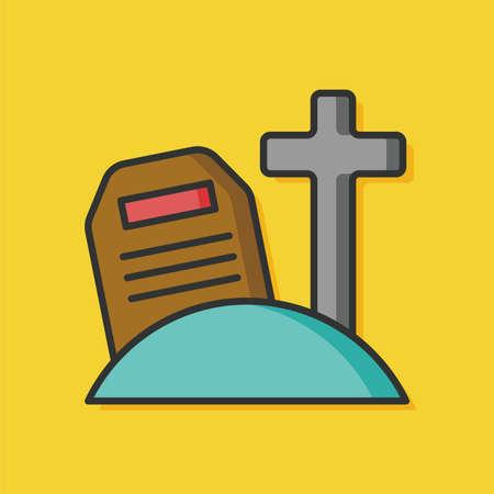 tomb: Grave tomb vector icon