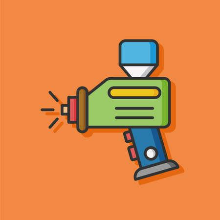 melt: Melt gun vector icon
