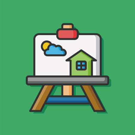 framed picture: painting artwork vector icon